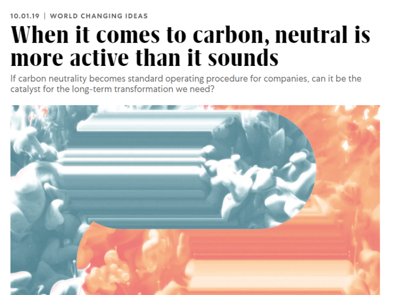 When it comes to carbon, neutral is more active than it sounds