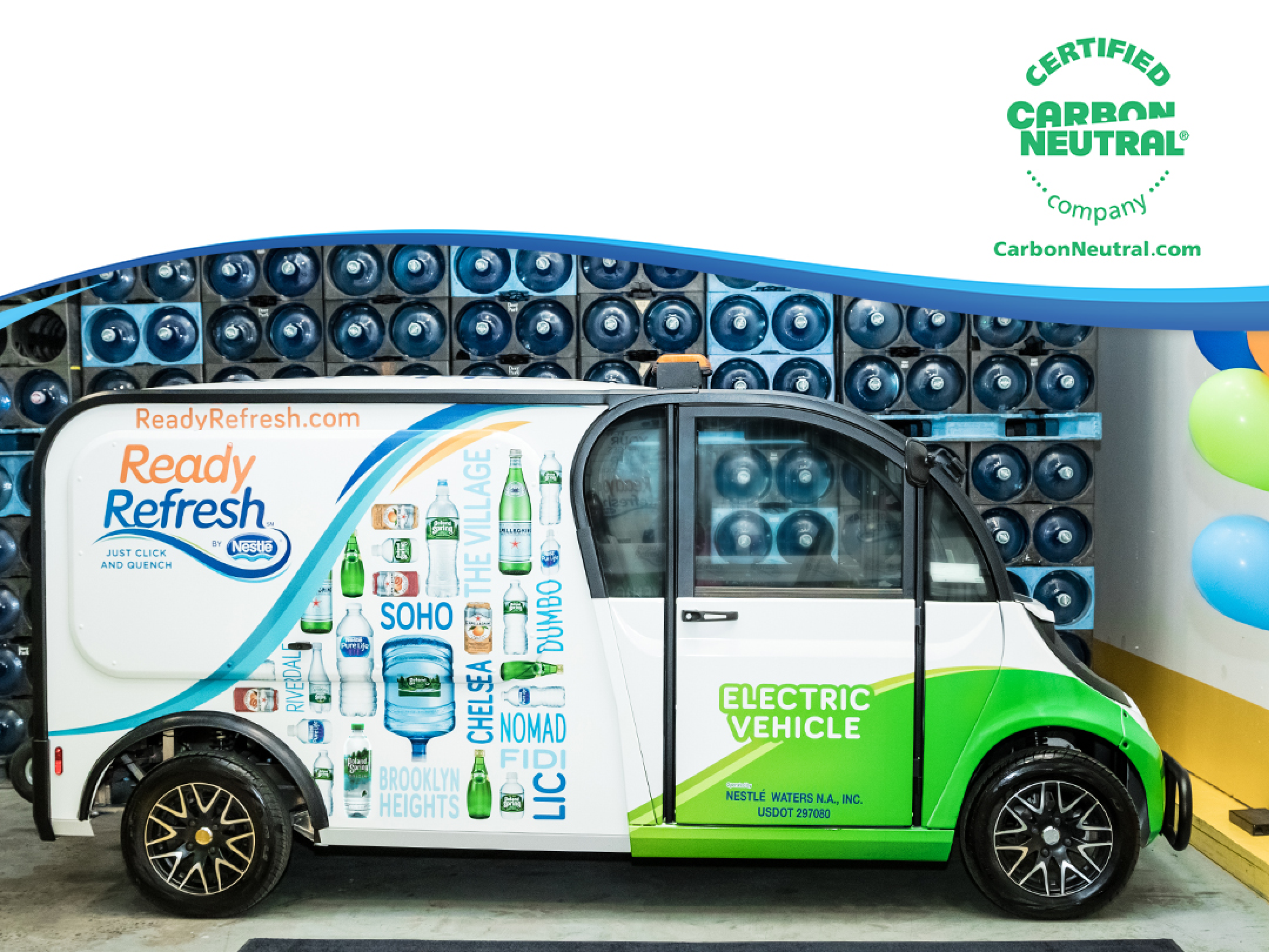 Nestlé Waters North America beverage delivery arm reaches carbon neutrality