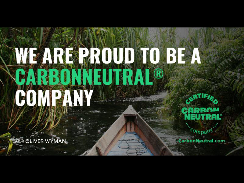Oliver Wyman achieves CarbonNeutral® status