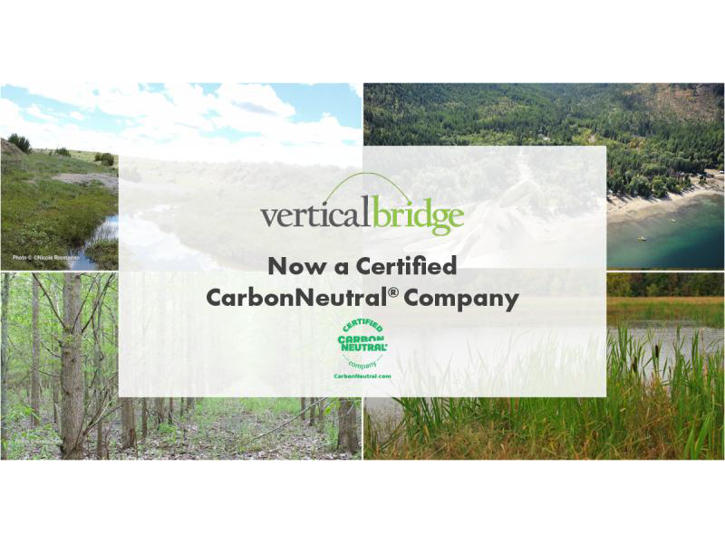 Vertical Bridge becomes CarbonNeutral® certified